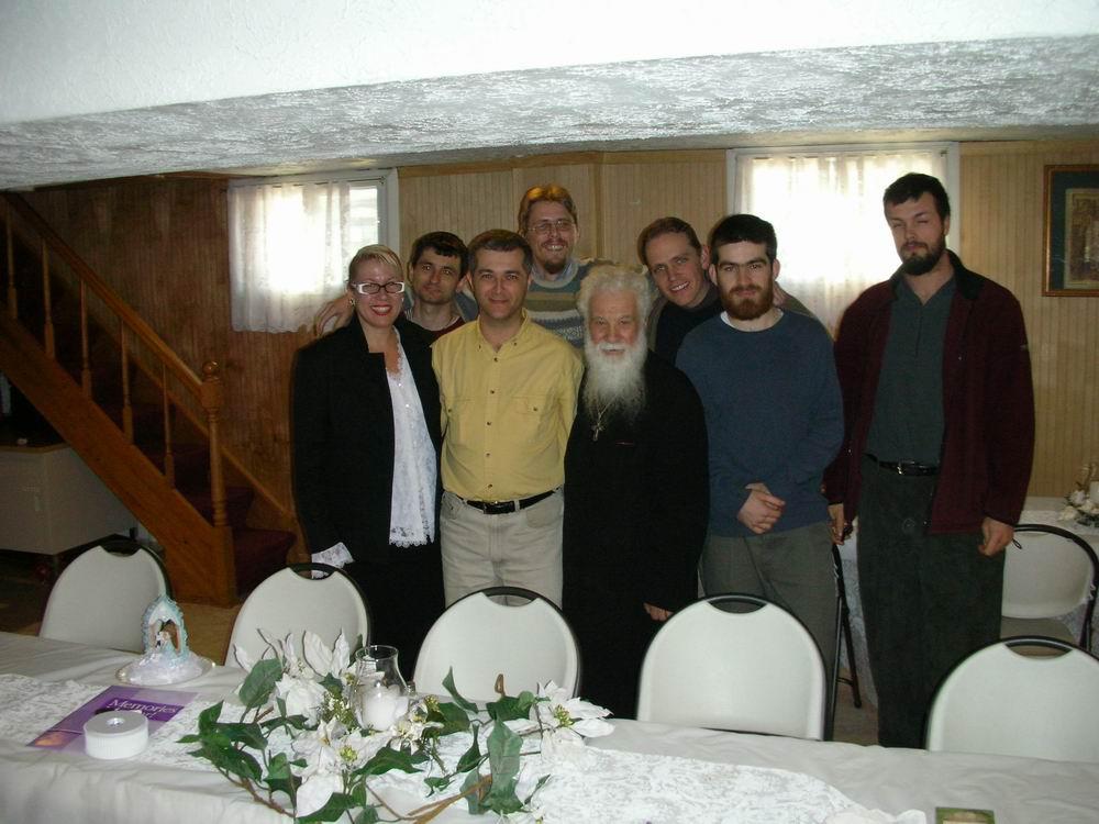 Pr. Gheorghe Calciu și prietenii săi