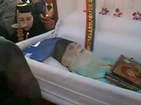 Trupul adormit al Părintelui Gheorghe Calciu